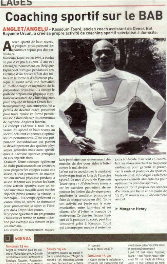 blog coaching sportif bab biarritz anglet bayonne article presse